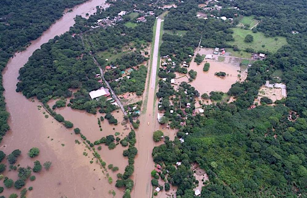 Bild vom Hochwasser Nosara Oktober 20\18
