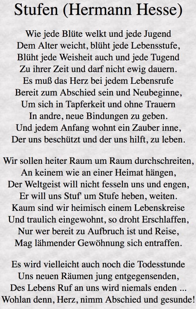 Stufen von Hermann Hesse